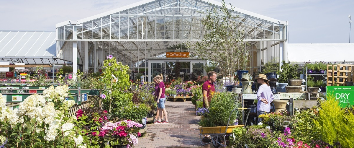 A Garden Centre of Excellence, one of the top ten garden centres in the UK