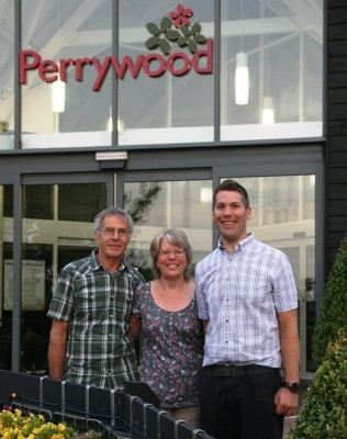 Alan, Karin and Simon Bourne of Perrywood Garden Centre and Nurseries