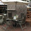 Gold Coast 4 Seat Dining Set with Parasol