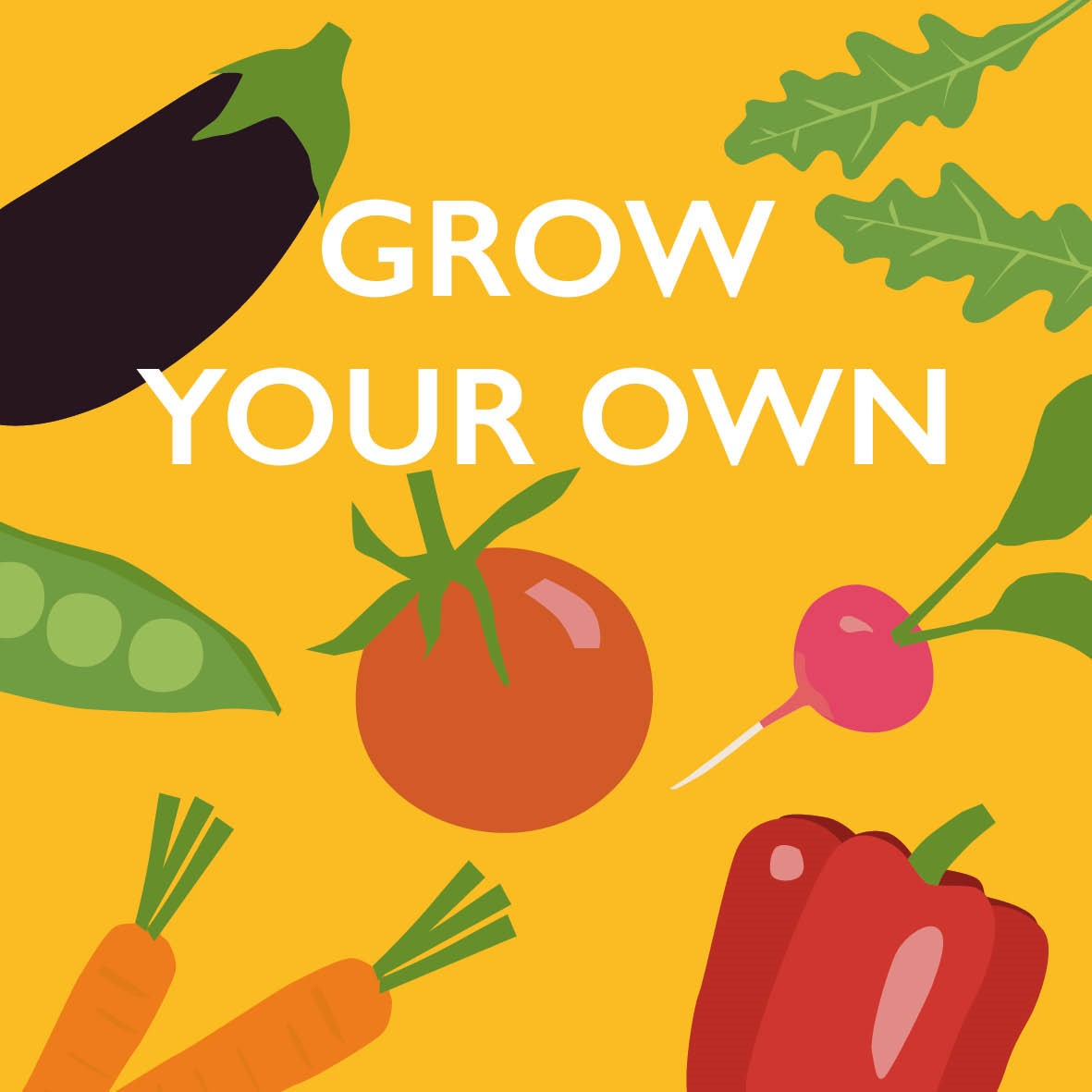 Grow your own veg yellow version