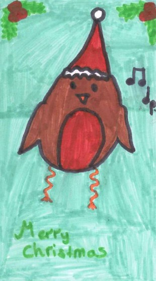 Isobel's winning card in the NGGV Christmas Card Competition