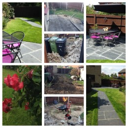 Kayleigh Williams' garden - The end result of a lot of hard work shifting rubble, sowing grass, laying a patio and creating a beautiful space to sit and contemplate!
