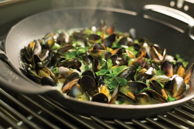 Mussels cooked at the Weber Grill Academy On Tour roadshow