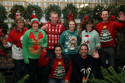 Perrywood team taking part in the Save the Children Christmas Jumper Day