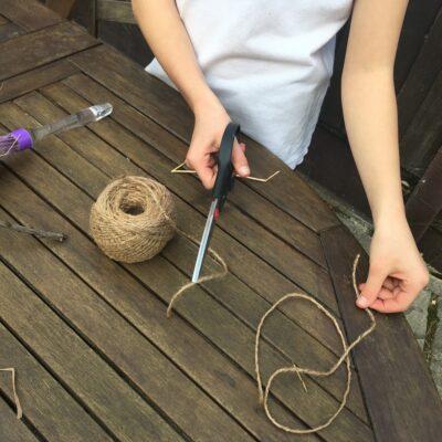 step 2 - cutting string