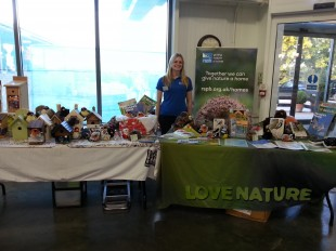 The RSPB promote their 'Give Nature A Home' campaign at Perrywood