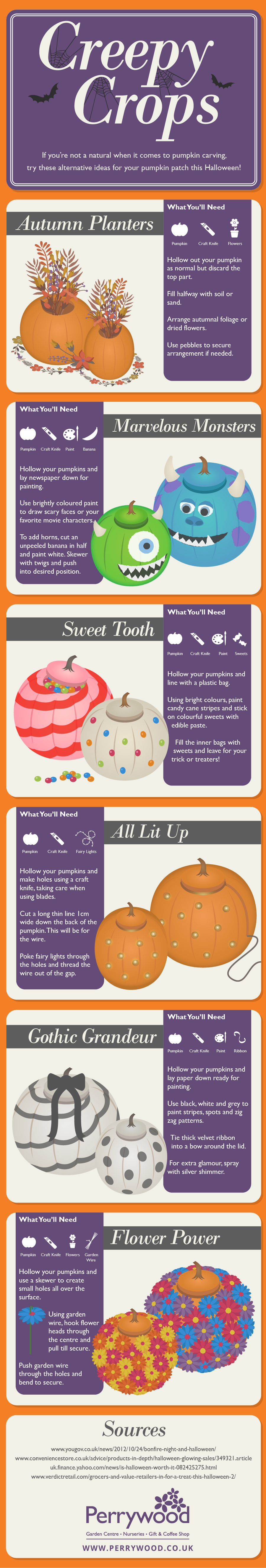 pumpkin carving infographic